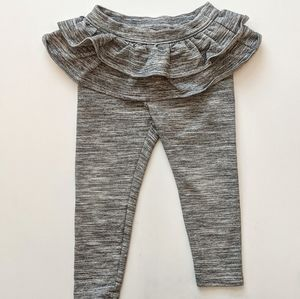 Gap Ruffle Trim Grey Skirt leggings * 2T